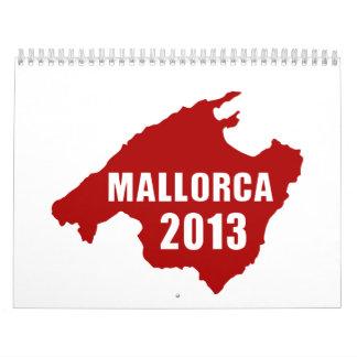 Mapa de Mallorca 2013 Calendario De Pared