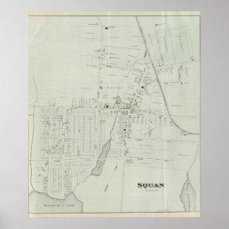 Mapa de Manasquan, New Jersey Posters