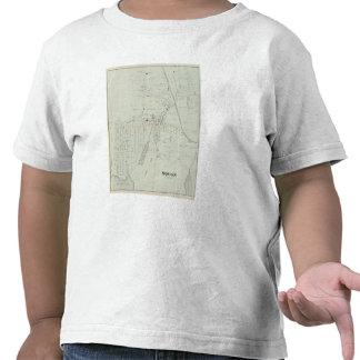 Mapa de Manasquan, New Jersey Camiseta