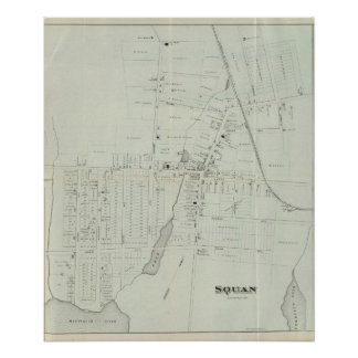 Mapa de Manasquan, New Jersey Póster
