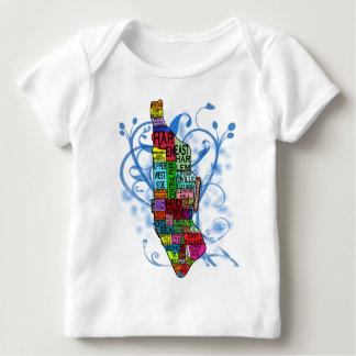 Mapa de Manhattan del codificado por color Playera De Bebé