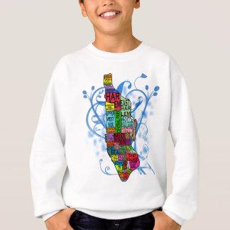 Mapa de Manhattan del codificado por color Sudadera