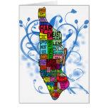 Mapa de Manhattan del codificado por color Tarjeton