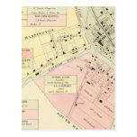 Mapa de Mannington, Virginia Occidental Tarjetas Postales