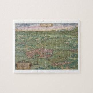 "Mapa de Mantua, de ""Civitates Orbis Terrarum"" cerc Rompecabeza"