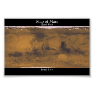 Mapa de Marte Póster