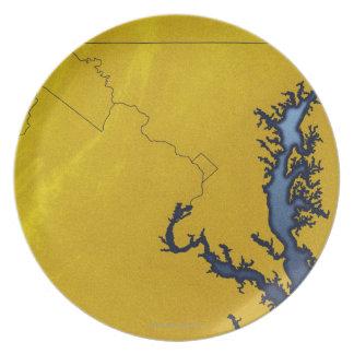Mapa de Maryland 4 Plato