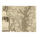 Mapa de Maryland por Arrowsmith Postales