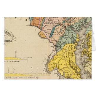 Mapa de Maryland y del distrito de Columbia Tarjeton
