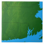 Mapa de Massachusetts 2 Azulejos