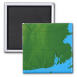 Mapa de Massachusetts 2 Iman De Frigorífico