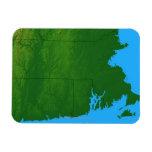 Mapa de Massachusetts 2 Imanes Flexibles