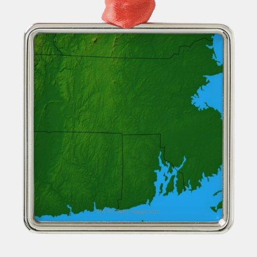 Mapa de Massachusetts 2 Ornamentos De Reyes Magos