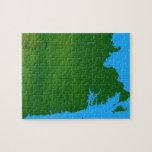 Mapa de Massachusetts 2 Rompecabezas Con Fotos