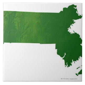 Mapa de Massachusetts Azulejos