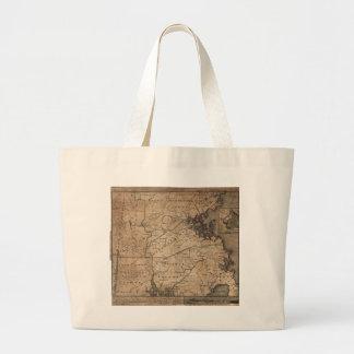 Mapa de Massachusetts de los romanos de Bernard Bolsa De Tela Grande