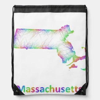 Mapa de Massachusetts del arco iris Mochila
