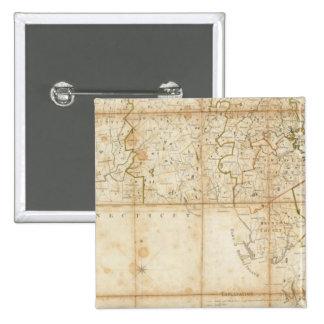 Mapa de Massachusetts Pin Cuadrado