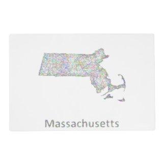 Mapa de Massachusetts Tapete Individual