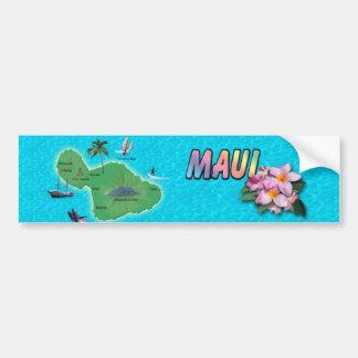 Mapa de Maui Pegatina Para Auto