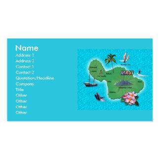Mapa de Maui Plantilla De Tarjeta De Negocio