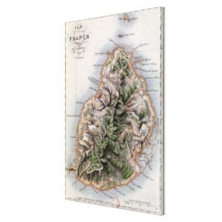Mapa de Mauricio, ejemplo 'Paul y Virginie Lona Estirada Galerías