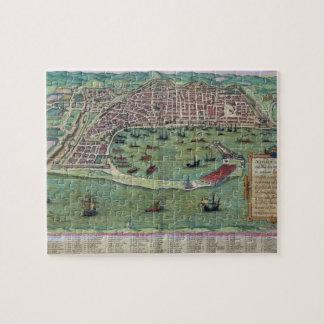 "Mapa de Messina, de ""Civitates Orbis Terrarum"" cer Rompecabeza"