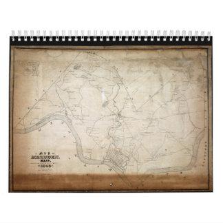Mapa de Methuen Massachusetts en 1846 Calendario