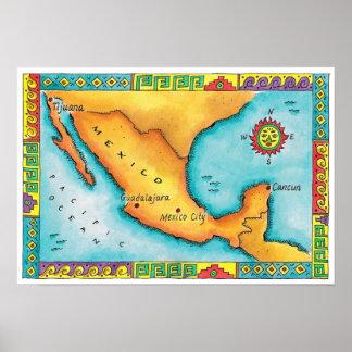 Mapa de México 2 Posters