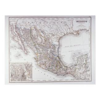 Mapa de México 2 Tarjeta Postal