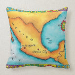Mapa de México Almohadas