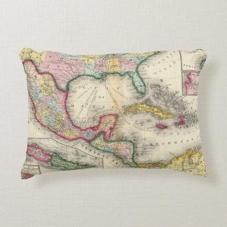Mapa de México, America Central Cojín Decorativo