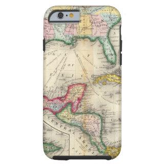 Mapa de México, America Central Funda De iPhone 6 Tough