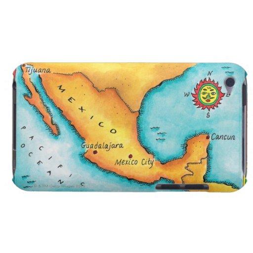 Mapa de México Barely There iPod Cárcasas