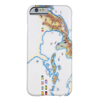Mapa de México, de America Central y del Caribe Funda De iPhone 6 Barely There