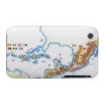 Mapa de México, de America Central y del Caribe iPhone 3 Cobertura
