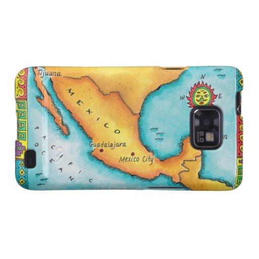Mapa de México Galaxy SII Funda