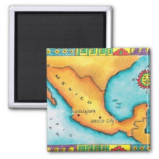 Mapa de México Iman De Frigorífico