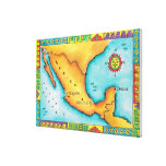 Mapa de México Impresiones En Lienzo Estiradas