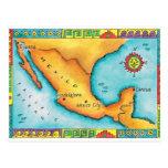 Mapa de México Postales
