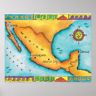 Mapa de México Póster