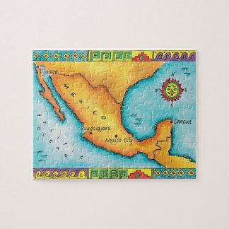 Mapa de México Puzzles Con Fotos