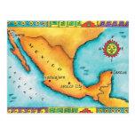 Mapa de México Tarjeta Postal