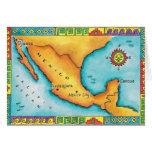 Mapa de México Tarjetas