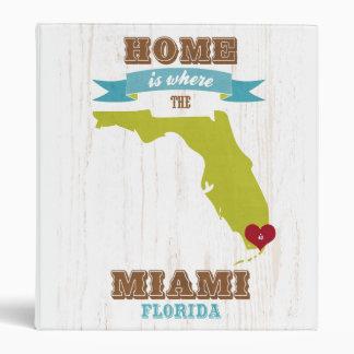Mapa de Miami la Florida - casero es donde está e