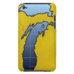 Mapa de Michigan 2 Barely There iPod Protector