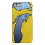 Mapa de Michigan 2 Funda De iPhone 6 Barely There