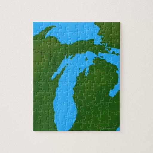 Mapa de Michigan 3 Puzzles