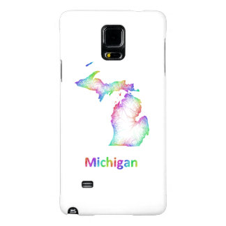 Mapa de Michigan del arco iris Funda Galaxy Note 4