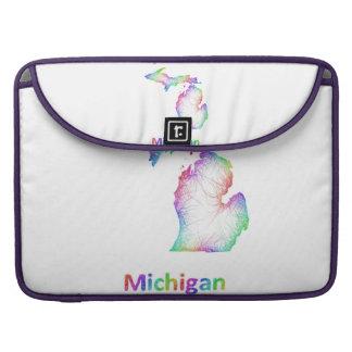 Mapa de Michigan del arco iris Fundas Macbook Pro